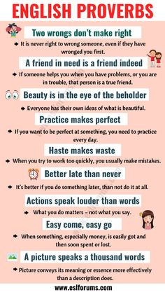 Top 30 English Proverbs and Their Meanings Everyone Should Learn! English Sentences, English Vocabulary Words, English Phrases, English Idioms, English Lessons, Vocabulary Sentences, Esl Lessons, French Lessons, Spanish Lessons