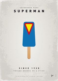 My SUPERHERO ICE POP - Superman Art Print