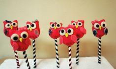 Girlie Pink! Owl Birthday Cake Pops by BAKECupcakery, via Flickr