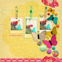 Beautiful Digi page from Minitoko using Kitschy Digitals.