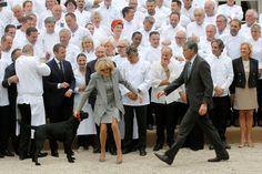 Mercredi midi à l'Elysée, Emmanuel Macron et son épouse ont reçu 180 chefs étoilés.