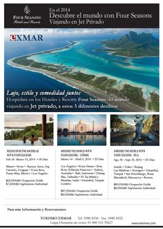 ¡¡ Viaja alrededor del mundo en Jet Privado con alojamiento en los Four Seasons Hotels and Resorts de cada destino!!