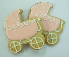peach baby carriage cookies