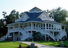 Wrap around porch for a beach house