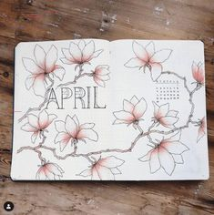 This is such an amazing idea for the bullet journal! Every year I get more organized and I love it! Can't wait to try this idea in my own planner! April Bullet Journal, Bullet Journal Notebook, Bullet Journal Ideas Pages, Bullet Journal Spread, Bullet Journal Layout, Bullet Journal Inspiration, Journal D'inspiration, Bellet Journal, Kalender Design