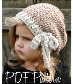Crochet PATTERN-The Emileigh Slouchy Toddler por Thevelvetacorn