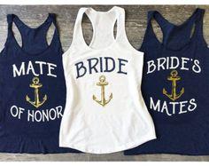 Brides Mates Tank Top Mate of Honor Tank Top Bridal by BridalRave