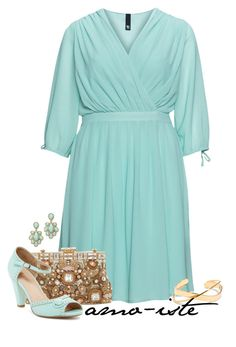 """""""Mint - Plus Size"""" by amo-iste ❤ liked on Polyvore featuring Manon Baptiste, Slate & Willow, Dolce&Gabbana and Restricted"""