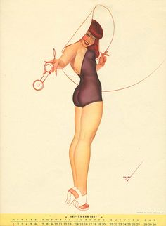 Curvy Pin-up by George Petty   Trendland: Fashion Blog & Trend Magazine