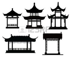 temple chinois: Chinese traditional pavilions                                                                                                                                                                                 Plus
