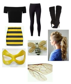 """""""Miraculous Bumblebee"""" by adeline-jackson on Polyvore featuring Jockey, Alice + Olivia and GUESS"""