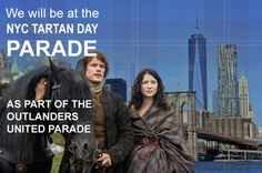This wasn't on my bucket list, but hey you only live once!  Official marcher with Outlanders United at NYC Tartan Week parade 2016 - Sam H. is the Grand Marshall! :)