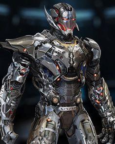 Robot Concept Art, Armor Concept, Iron Man Poster, Iron Man Art, Fantasy Comics, Avengers Wallpaper, Superhero Design, Suit Of Armor, Marvel Characters
