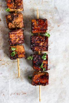 Low Unwanted Fat Cooking For Weightloss Tofu Cajun Orange Skewer Vegan Vegan Vegetarian, Vegetarian Recipes, Cooking Recipes, Healthy Recipes, Grilled Tofu Recipes, Vegan Grill Recipes, Vegetarian Skewers, Vegan Kebab, Vegan Raw