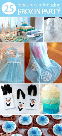 25 Ideas for an Amazing Frozen Party - We threw a Frozen Party and have put together our 25 best Frozen Birthday Party Ideas including desserts, decorations, party games and activities and party favors. And for more great Frozen Party Ideas follow us at http://www.pinterest.com/2SistersCraft/