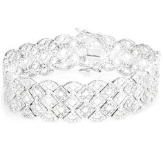 2 Carat Diamond Lattice Sterling Silver Bracelet