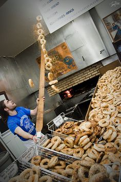 St. Viateur Bagels in Montreal. It's a bagel experience...:)