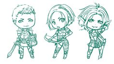 Dragon Age Origins - Chibis by ~Lyshantia on deviantART