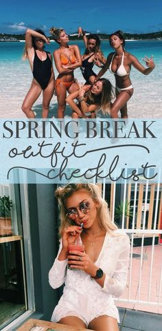 SPRING BREAK OUTFIT CHECKLIST - bikini, coverup, day outfit, night outfit, poncho, shoes, bag, cross body + more! - OH EM GEE these outfits are just TO DIE FOR, You will definitely turn heads with these clothing essentials!!