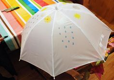 Color Your Own Umbrella-- rainbow party activity ideas
