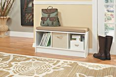 Amazon.com: ClosetMaid 1569 Cubeicals 3-Cube Storage Bench, White: Home & Kitchen