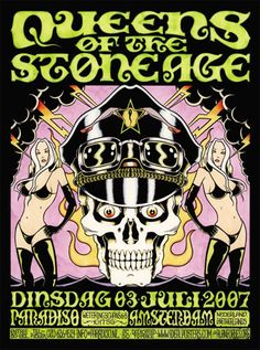 Alan Forbes Queens Of The Stone Age Poster