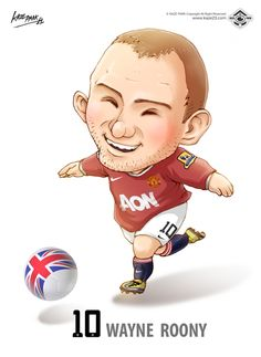 Manchester United Characters on Behance Man Utd Fc, Manchester United Legends, Soccer Art, Football Fever, Wayne Rooney, Football Pictures, Tag Design, Champions League, Football Players