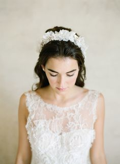 Photography : KT Merry | Hair + Makeup : TEAM Hair And Makeup | Headpiece : Bel Aire Bridal Read More on SMP: http://www.stylemepretty.com/2016/01/22/elegant-ethereal-wedding-inspiration-bel-aire-bridal-giveaway/