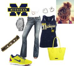"""""""Michigan Wolverines Football"""" by candecane83 on Polyvore"""