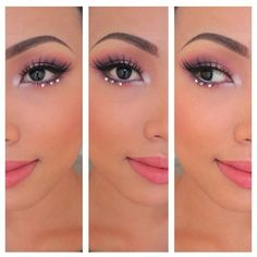 Pink shadow with jewel accents.                                                                                                                                                                                 More