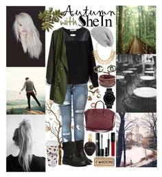 """""""Cold Is Coming!"""" by inesramos-1 ❤ liked on Polyvore featuring Chicwish, Givenchy, Jules Smith, UGG Australia, Zephyr, Chan Luu, Movado, Chanel, MAC Cosmetics and Roberto Cavalli"""
