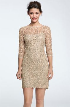 Kay Unger Sequin & Lace Sheath Dress | Nordstrom