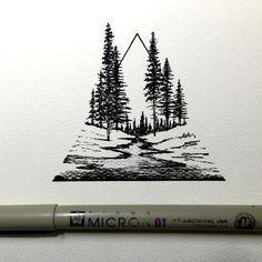 Pen artwork by Derek Myers- Inspiration