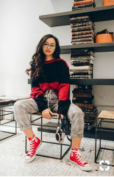 All Red Outfit Ideas For Dark Winter Days! - - All Red Outfit Ideas For Dark Winter Days Source by deborahvramirez Converse Rouge, Moda Converse, Fashionista Trends, Red Fashion, Fashion Outfits, Red Outfits, Red Outfit Ideas Casual, Looks Con Converse, All Star Outfit