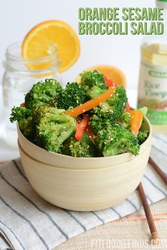 Orange Sesame Broccoli Salad- a refreshing way to eat yo green food!