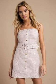 646f56e716 Looking for the Queen Bee Taupe Gingham Belted Shift Dress ? | Find Shift  Dresses and more at Tobi! - 50% Off Your First Order - Fast & Free Shipping  For ...