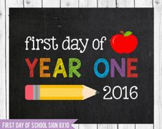 First day of year one, UK school sign, Year one UK, Australian school sign, #Yearone