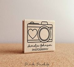 Pink Pueblo's personalized custom Photography camera stamp is a great gift for kids and adults! The stamp art is original art by Devon (that's me!) at the studio of Pink Pueblo. All stamps are hand ma Dslr Photography Tips, Photography For Beginners, Photography Logos, Photography Equipment, Photography Business, Photography Essentials, Outdoor Photography, Amazing Photography, Canon Camera Models
