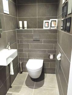 Grey Bathrooms Designs, Modern Bathroom Design, Bathroom Interior Design, Interior Design Living Room, Toilet Closet, Toilet Room, Wc Design, Toilet Design, Toilet Plan