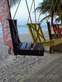 Gotta go ... West Bay Beach near Bananarama Resort. Roatan Honduras