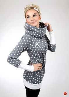 """MEKO Hoodie """"DOT_4/19""""  von meko® Store   auf DaWanda.com (Fashion Diy Clothes)"""