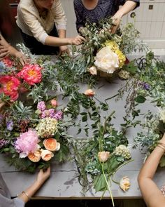 The Little Flower School - The Little Flower School would like you to dispel any preconceived notions about traditional flower arranging. New York City–based floral designers Nicolette Owen and Sarah Ryhanen started the Little Flower School (LFS) in 2009 after separately receiving requests for floral design classes. Their loosely structured workshops (little-flower-school.blogspot.com) are more inspired by Etsy and DIY culture than by white-gloved afternoons with the Ladies Who Lunch.