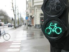 Bicycle traffic signal in Amsterdam | Flickr - Photo Sharing!