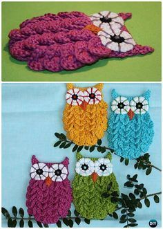 DIY Crochet Crocodile Stitch Owl Free Pattern-#Crochet Owl Ideas Free Patterns
