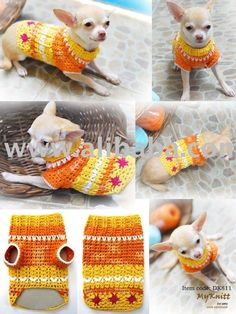 Crochet Pet Dog sweater