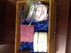 CM's holiday gift set includes handcrafted soy soap, salt cubes, and body smoothie.  Available in a variety of fragrances.
