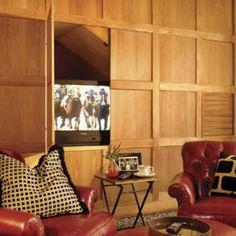 hidden wall to wall cabinets | Via Jewel Aholic