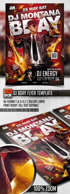 Dj Bday Flyer Template PSD. Download here: http://graphicriver.net/item/dj-bday-flyer-template/16135284?ref=ksioks