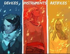 The infernal devices, mortal instruments, and the dark artifice