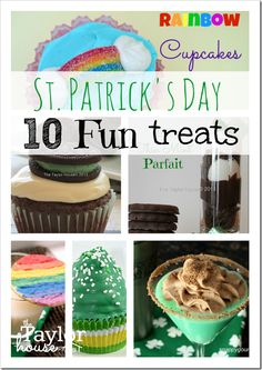 St. Patrick's Day, St. Patrick's Day Treat Ideas, St. Patrick's Day Dessert, St. Patrick's Day Treats, St. Patrick's Day Recipes